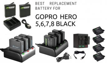 Best replacement battery for GoPro Hero 5 Black, Hero 6 Black, Hero 7 Black and Hero 8 Black