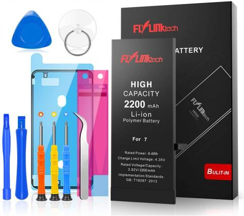 Flylinktech Battery Replacement for iPhone 7 - 2200mAh