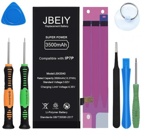 JBEIY Replacement Battery for iPhone 7 Plus - 3500mAh