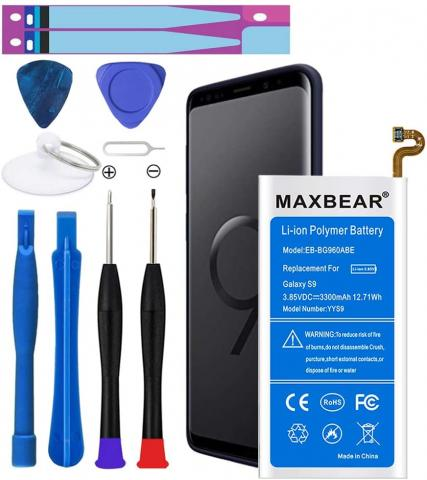 MAXBEAR Battery Replacement for Samsung Galaxy S9 - 3300mAh