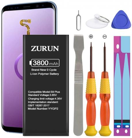 ZURUN Battery Replacement for Samsung Galaxy S9 Plus - 3800mAh