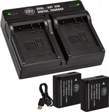 BM 2-Pack of DMW-BLG10 Batteries and Dual Battery Charger for Panasonic Lumix DMC-LX100K Camera