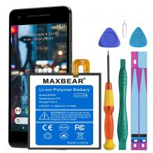 MAXBEAR 2800mAh Li-Polymer Battery BG2W Replacement for HTC Google Pixel 2 (5.0'') G011A-B