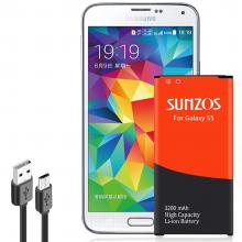 SUNZOS Galaxy S5 Replacement 3200mAh Battery