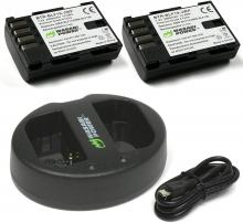 Wasabi Power Battery 2-Pack and Dual USB Charger for Panasonic Dmw-BLF19